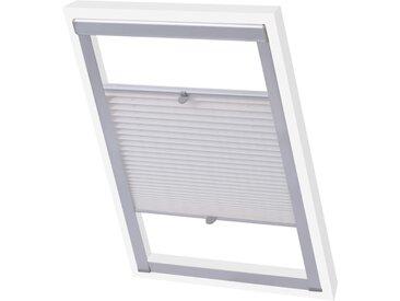 Store plissé Blanc MK06 - vidaXL