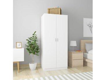 Garde-robe Blanc 80x52x180 cm Aggloméré - vidaXL