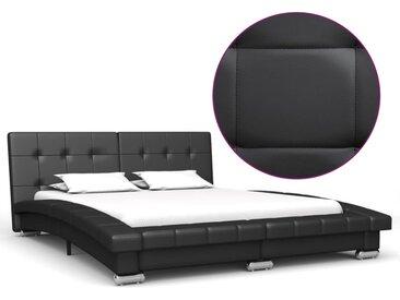 Cadre de lit Noir Similicuir 200 x 140 cm - vidaXL