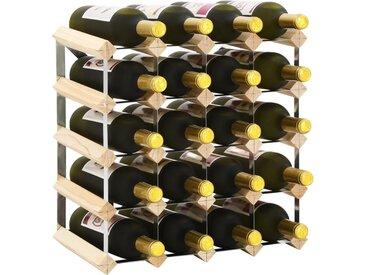 Casier à bouteilles pour 20 bouteilles Pinède solide - vidaXL