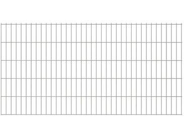 Panneaux de clôture 2D pour jardin 2008x1030 mm 16 m Argenté - vidaXL