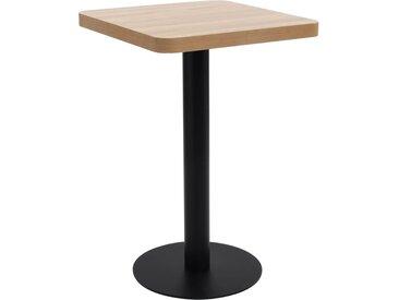 Table de bistro Marron clair 50x50 cm MDF - vidaXL