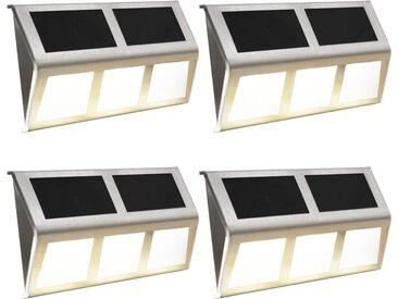 Lampe solaire 4 pcs Lumière LED Blanc chaud - vidaXL
