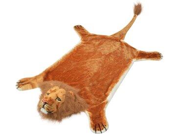 Tapis en peluche en forme de lion 205 cm Marron - vidaXL