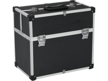 Boîte à outils 43,5 x 22,5 x 34 cm Noir Aluminium - vidaXL
