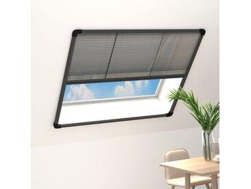 Moustiquaire plissée à fenêtre Aluminium Anthracite 100x130 cm - vidaXL