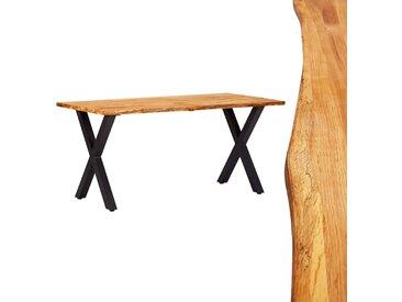 Table de salle à manger 160x80x75 cm Bois de chêne massif - vidaXL