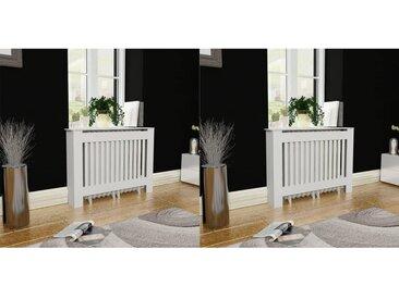 Cache-radiateurs 2 pcs Blanc MDF 112 cm - vidaXL