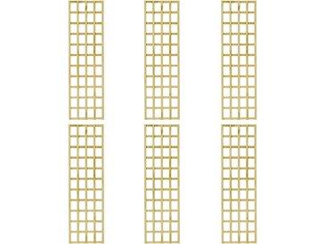 Treillis à plantes de jardin 6 pcs 50x170 cm Bois de pin - vidaXL