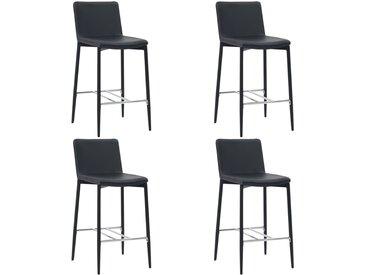 Chaises de bar 4 pcs Noir Similicuir - vidaXL