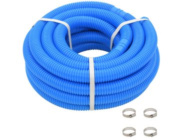 Tuyau de piscine avec colliers de serrage Bleu 38 mm 12 m - vidaXL