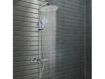 Ensemble de douche à deux têtes et thermostat acier inoxydable - vidaXL