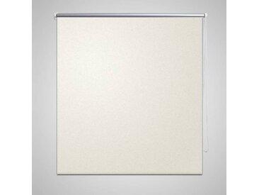 Store enrouleur occultant 120 x 175 cm crème - vidaXL