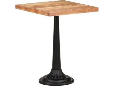Table de bistro 60x60x76 cm Bois d'acacia massif - vidaXL