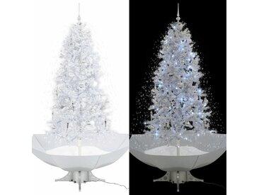 Arbre de Noël neigeux avec base de parapluie Blanc 190 cm - vidaXL