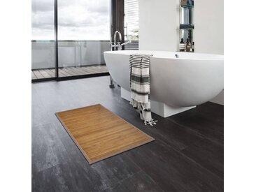 Tapis de bain Bambou 4 pcs 60 x 90 cm Marron - vidaXL