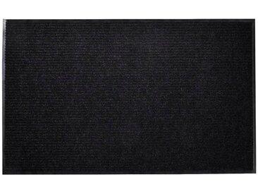 Tapis d'entrée Noir PVC 90 x 120 cm - vidaXL
