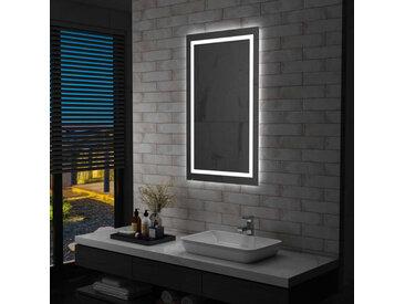 Miroir à LED pour salle de bains et capteur tactile 60x100 cm - vidaXL