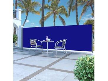 Auvent latéral rétractable 160 x 500 cm Bleu - vidaXL
