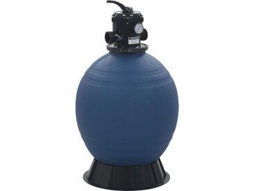 Filtre à sable pour piscine avec vanne 6 positions Bleu 560 mm - vidaXL