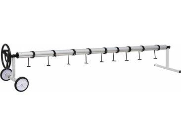 Enrouleur de bâche de piscine avec base en acier inoxydable  - vidaXL