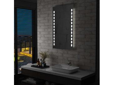 Miroir mural à LED pour salle de bains 60 x 100 cm - vidaXL