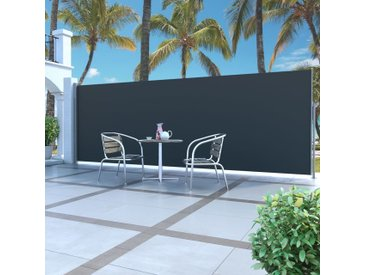 Auvent latéral rétractable 160 x 500 cm Noir - vidaXL