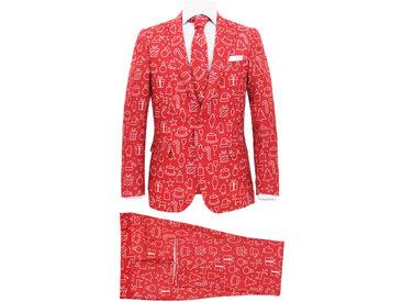Costume 2 pièces Noël et cravate Homme Taille 52 Cadeaux Rouge - vidaXL