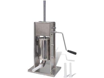 Poussoir à saucisse verticale en acier inoxydable 3 L - vidaXL