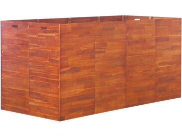 Lit surélevé de jardin Bois d'acacia 200x100x100 cm - vidaXL