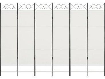 Cloison de séparation 6 panneaux Blanc 240 x 180 cm - vidaXL