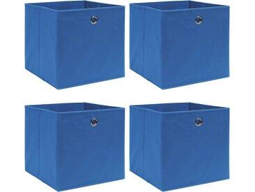Boîtes de rangement 4 pcs Bleu 32x32x32 cm Tissu - vidaXL