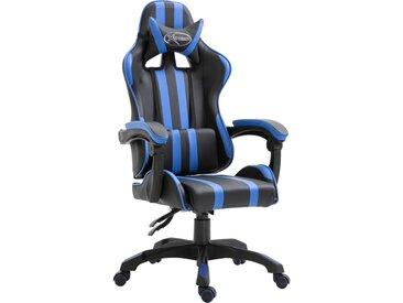 Chaise de jeu Bleu PU - vidaXL