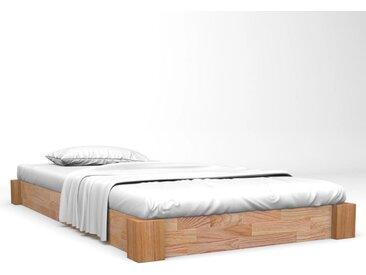 Cadre de lit Chêne solide 90x200 cm - vidaXL