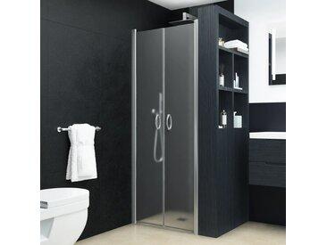 Portes de cabine de douche ESG dépoli 75x185 cm - vidaXL