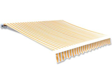 Toile d'auvent Orange et blanc 350x250 cm  - vidaXL