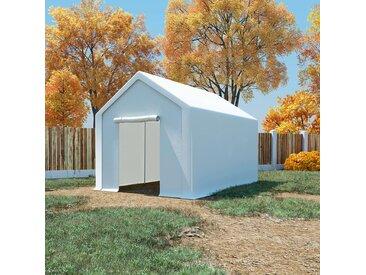 Tente de rangement PE 3 x 4 m Blanc - vidaXL