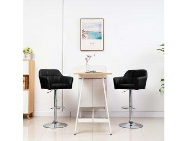 Chaises de bar 2 pcs avec accoudoir Noir Similicuir - vidaXL
