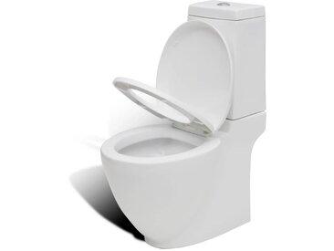 Toilette céramique Blanc - vidaXL