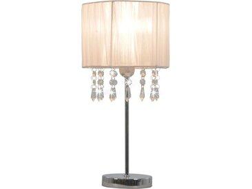 Lampe de bureau Blanc Rond E27 - vidaXL