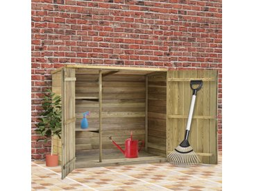 Abri à outils de jardin 135x60x123 cm Pinède imprégnée - vidaXL