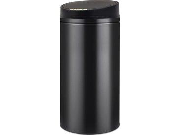 Poubelle à capteur automatique 52 L Noir  - vidaXL