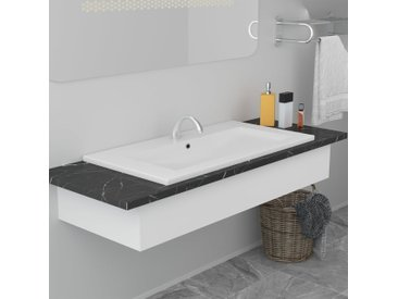 Lavabo encastré 91 x 39,5 x 18,5 cm Céramique Blanc - vidaXL
