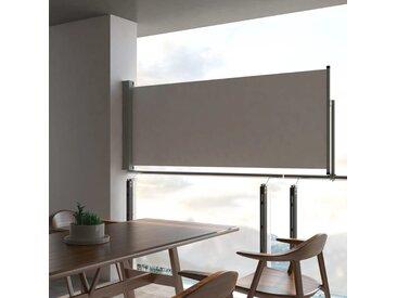 Auvent latéral rétractable de patio 100 x 300 cm Gris - vidaXL