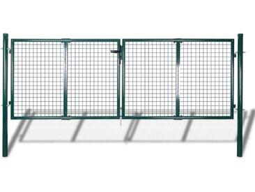 Portail de Clôture en Grillage Galvanisée 289 x 75 cm / 306 x 125 cm  - vidaXL