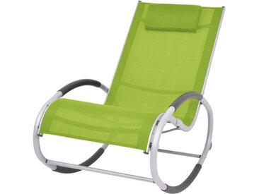 Chaise à bascule d'extérieur Vert Textilène - vidaXL