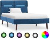 Cadre de lit avec LED Bleu Tissu 100 x 200 cm - vidaXL