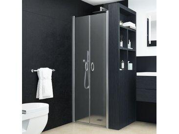 Portes de cabine de douche ESG dépoli 80x185 cm - vidaXL