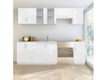 Armoire de cuisine 7 pcs Blanc haut brillance 240 cm  - vidaXL