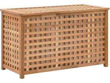 Coffre de blanchisserie 77,5x37,5x46,5 cm Bois massif de noyer - vidaXL